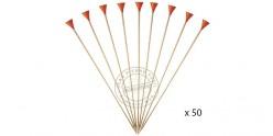 Cold Steel - Fléchettes longues en bambou pour sarbacane Big Bore - cal .625