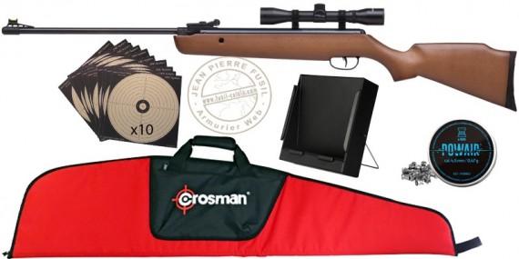 Pack carabine à plomb CROSMAN Optimus 4.5 mm (19,9 joules) - PROMO ETE 2021