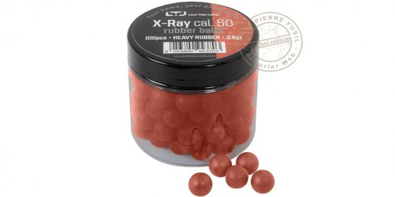 Less Than Lethal - X-Ray heavy rubber balls - .50 bore - x100
