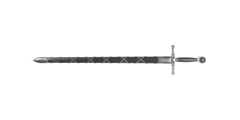 Epée Denix - Excalibur - Fourreau noir