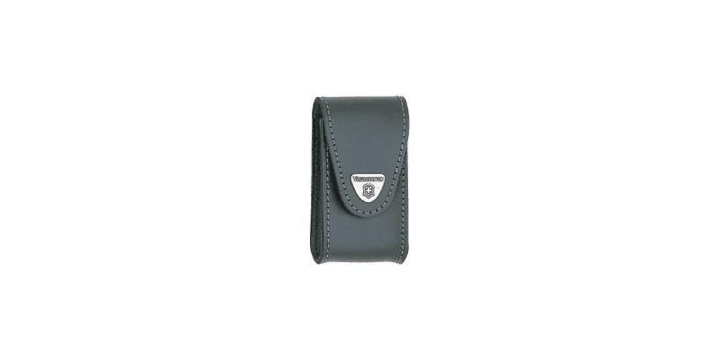 VICTORINOX leather sheath - Large size - Black