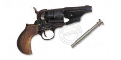 Revolver PIETTA Army Sheriff's Snubnose 1860 Cal. 44 - round lined stock - Barrel 3''