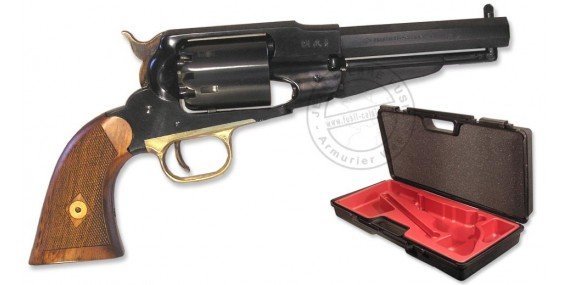 Revolver PIETTA Remington 1858 Steel Cal. 44 - lined stock + case- Barrel 5,5''