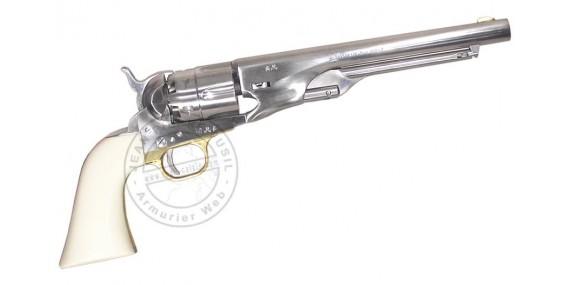 Revolver PIETTA Colt Army 1860 Old Silver Cal. 44 - crosse ivoirine - Canon 8''