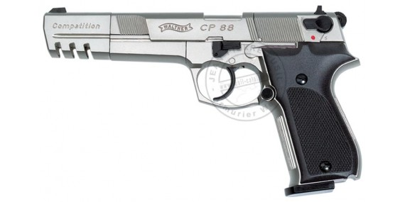 WALTHER CP88 Competition 6'' CO2 pistol - Nickel plated - .177 bore (4 joules)