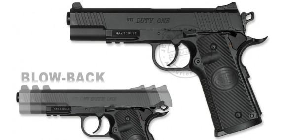 Pistolet à plomb CO2 4.5 mm ASG STI Duty One - Blowback (2.5 joules)