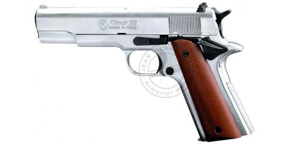 KIMAR 911 blank firing pistol - Nickel plated - 9mm blank bore