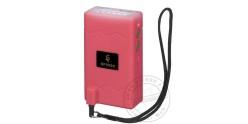 Poing électrique TIGER STUN 2 500 000 V avec lampe - Rose