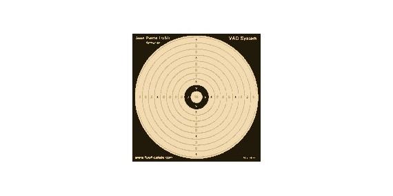 Lot de 100 cibles JPF 14 x 14 cm