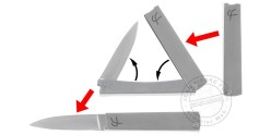 Couteau FRED PERRIN - Trifolder II