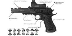Pistolet 4,5mm CO2 UMAREX Race Gun Set (2,6 joules) + Viseur point vert
