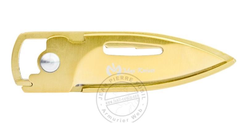 Couteau porte clefs MAX KNIVES - Doré