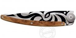 DEEJO TATTO knife 37g - MAORI motif - Juniper wood