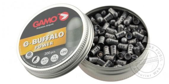 Plombs GAMO G-Buffalo - 4,5mm - 2 x 200 pour carabine