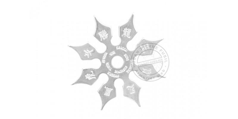 Throwing star 8 blades - Silver