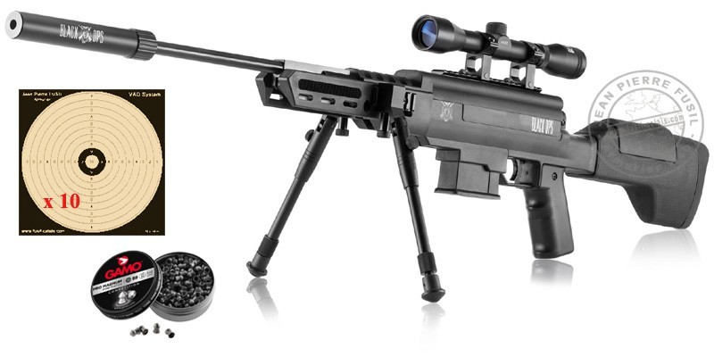 Carabine 4.5 mm BLACK OPS Sniper Tactical (19.9 Joules)