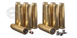 Revolver à plombs 4.5mm CO2 REMINGTON 1875 - Canon 6'' - Nickelé (3 Joules)