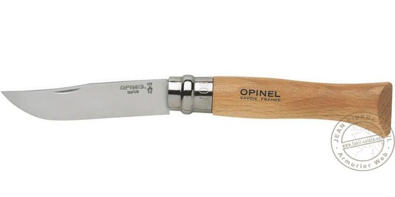 OPINEL N°8 knife - Stainless steel - Beech handle