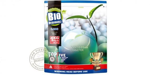 Sachet 2000 billes Soft Air blanches - biodégradables - 0.20g