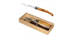 Coffret OPINEL - Stainless steel thin blade N°10 Olive wood