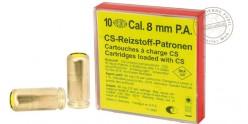 8mm CS gas pistol cartridges 10