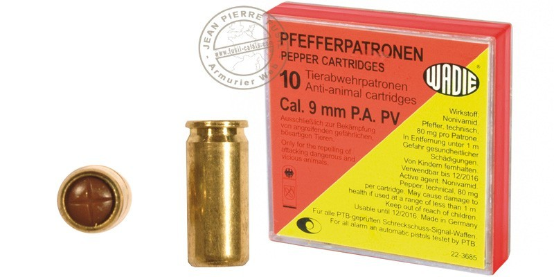9 mm pepper gas pistol cartridges 10