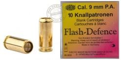 Cartouches 9mm Pistolet à blanc - Flash 10 cart.