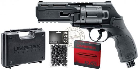 Pack revolver CO2 à balles de caoutchouc WALTHER T4E HDR 50 - Cal.50 (11 Joules max)