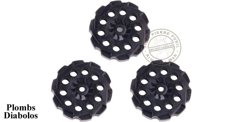 CROSMAN - Lot de 3 barillets pour revolver CO2 VIGILANTE 4,5mm