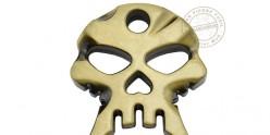 One finger skull knuckle duster - Silver